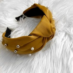 Anthropologie Yellow Mustard Headband